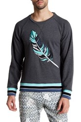 Parke And Ronen Embroidered Sweater Gray