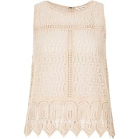 River Island Womens Light Pink Lace Tank Top