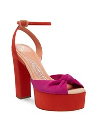 Brian Atwood Gabby Ankle Strap Sandals Multi Colored