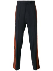Lanvin Striped Tailored Trousers Blue