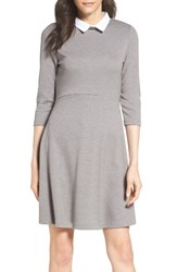 French Connection Women's 'Fast Fresh' Collared Jersey Fit And Flare Dress