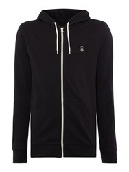 Volcom Men's Fleece Fabric Zip Up Hoodie Black