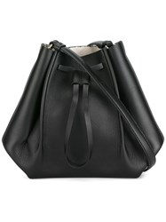 Maison Martin Margiela Small Structured Bucket Bag Black
