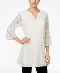 Styleandco. Style Co. Split Neck Lace Tunic Only At Macy's Vintage Cream