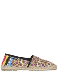 Dsquared Printed Cotton Canvas Espadrille Multi