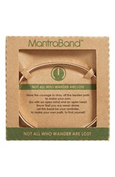 Mantraband Women's Not All Who Wander Are Lost Engraved Cuff Rose Gold