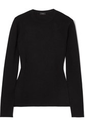 Joseph Stretch Silk Blend Sweater Black