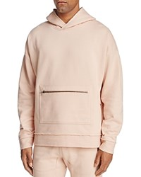 The Narrows Raw Edged Hooded Sweatshirt 100 Exclusive Rose Pink