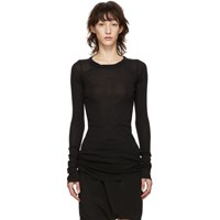 Rick Owens Black Rib Long Sleeve T Shirt