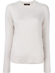 Steffen Schraut Button Detailing Pullover Nude And Neutrals