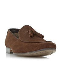 Howick Rooker Tassel Detail Loafer Shoes Tan
