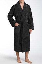 Nordstrom Shawl Collar Velour Robe Black