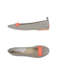 Pollini Ballet Flats Light Grey