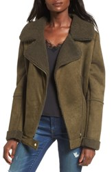 The Fifth Label 'S Dallas Faux Shearling Jacket Olive