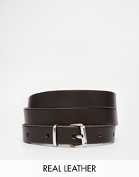 Black And Brown Skinny Leather Jeans Belt Darkbrown