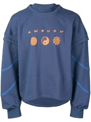Ambush Logo Layered Sweatshirt Blue