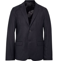 Steven Alan Midnight Blue Oliver Slim Fit Wool Flannel Blazer