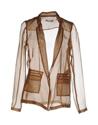 Alysi Suits And Jackets Blazers Women Khaki