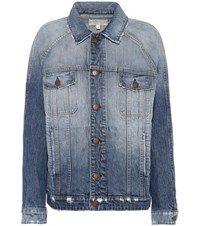 Current Elliott The Raglan Denim Jacket Blue