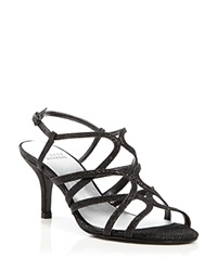 Stuart Weitzman Even Sandals Turning Up High Heel Black