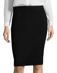Calvin Klein Leatherette Trimmed Pencil Skirt Black