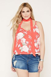 Forever 21 Plus Size Floral Cami And Sash