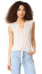Bb Dakota Abilene Tie Front Tee Heather Grey