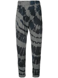 Raquel Allegra Tie Dye Print Trousers Women Cotton Polyester 1 Blue