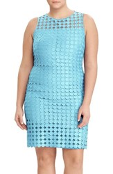 Lauren Ralph Lauren Plus Size Women's Geo Lace Sheath Dress