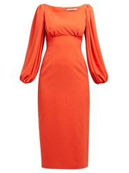Emilia Wickstead Magita Empire Waist Dress Orange