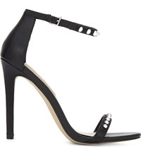 Aldo Mckinnons Leather Heeled Sandals Black Leather