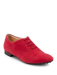 Tod's Lace Up Leather Oxfords Pink