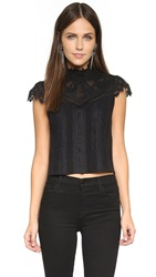 Alice Olivia Katarina Boho Top Black