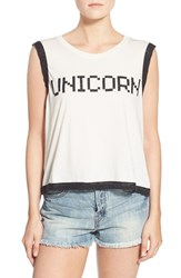Wildfox Couture Women's Wildfox 'Unicorn' Glitter Graphic Tank