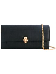 Alexander Mcqueen Skull Wallet With Chain Women Calf Leather One Size Black