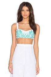 Mara Hoffman Leaf Embroidered Bandeau White