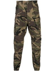 R 13 R13 Tapered Camouflage Print Trousers 60