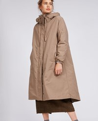 Aspesi Hooded Coat Nocino Beige