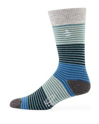 Penguin Barton Striped Socks Blue