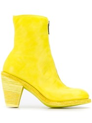 Guidi Front Zip Boots Yellow