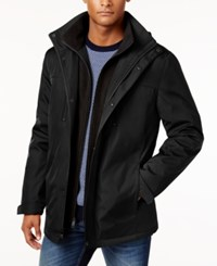 Kenneth Cole New York Systems Water Resistant Jacket With Removable Hood Black