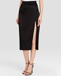 Abs By Allen Schwartz Skirt High Waist Satin Column