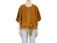 Iro Women's Teria Suede Dolman Jacket Tan Brown