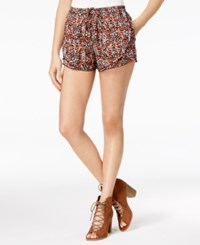 American Rag Juniors' Printed Tulip Front Soft Shorts Only At Macy's Spicy Orange