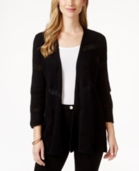 Styleandco. Style And Co. Open Front Striped Cardigan Only At Macy's