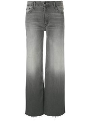 Mother Roller Ankle Fray Jeans Grey