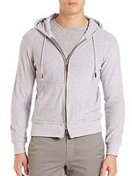 Eleventy French Terry Hoodie Grey