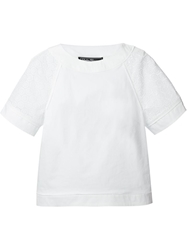 Salvatore Ferragamo Eyelet Boxy Fit Top White