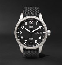 Oris Big Crown Propilot Day Date 45Mm Stainless Steel And Canvas Watch Ref. No. 752 7698 4164Fc Black