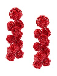 Sachin Babi And Fleur Coconuts Clip On Earrings Red